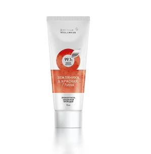 Siberian Wellness TOOTHPASTE STRAWBERRY AND RED CLAY