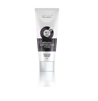 Siberian Wellness TOOTHPASTE BILBERRY AND CHARCOAL